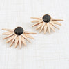 rose gold sunburst statement stud earrings