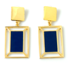 double rectangle earrings