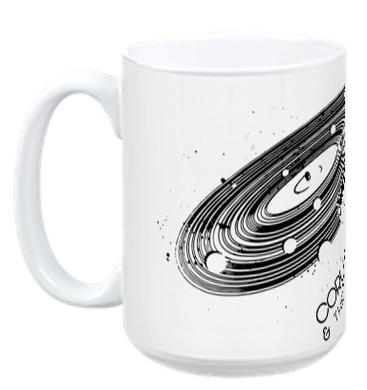 White ceramic 15oz mug Space Vinyl