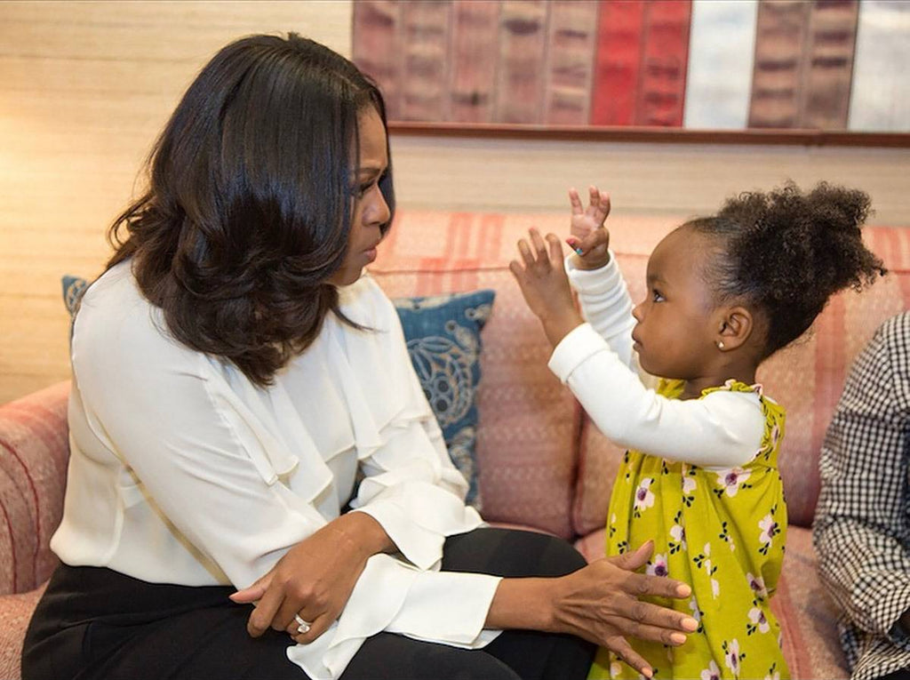 Michelle Obama Meets (And Has A Dance Party) With The Little Girl Who Was Awestruck By Her Portrait