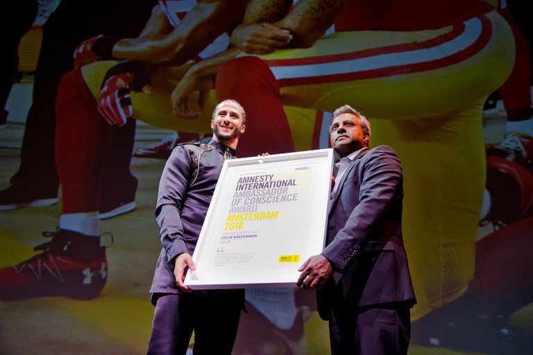 Colin Kaepernick Is Amnesty International's 2018 Ambassador Of Conscience