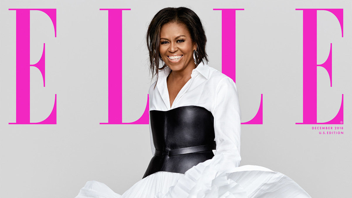 Our Forever First Lady, Michelle Obama, Graces The December Cover Of Elle Magazine