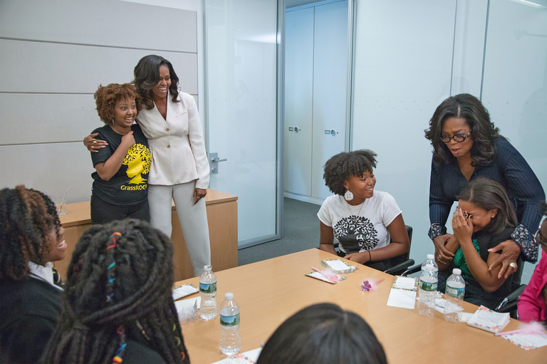 Watch Michelle Obama and Oprah Winfrey Give These High School Girls A Surprise Of A Lifetime