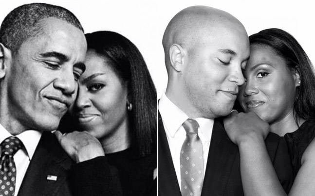 Black Love: Couple Recreates Barack & Michelle Obama's Sweetest Moments For Their Engagement Shoot