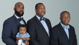 Four Generations: Son, Father, Grandfather, And Great-Grandfather In One Beautiful Photo
