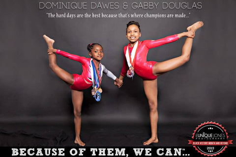 Dominique Dawes & Gabby Douglas