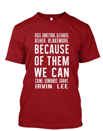 KAPsi Inspired - Because of Them, We Can Signature Tee