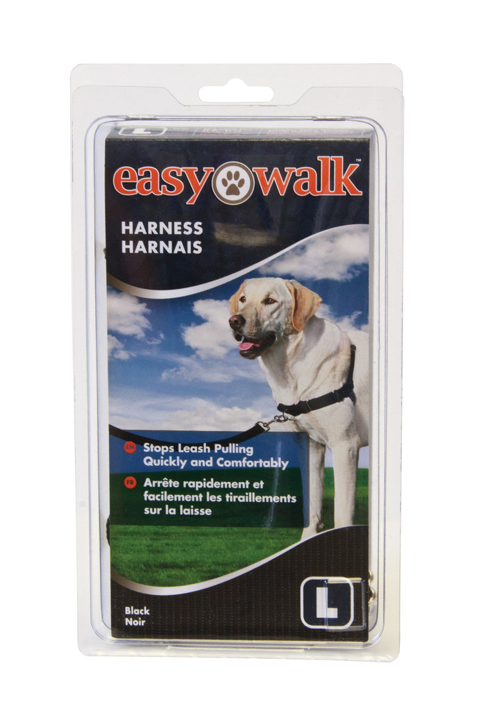 EWH-HC-L-BLK Easy Walk® Harness- Large, Black/Silver