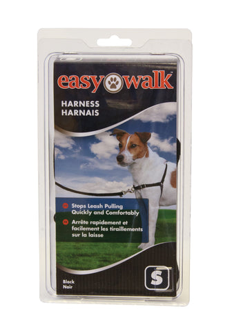 EWH-HC-S-BLK Easy Walk® Harness- Small, Black/Silver