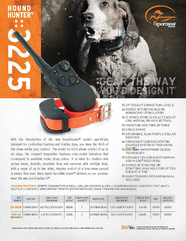 SD-3225 HoundHunter® 3225 Sales Sheet