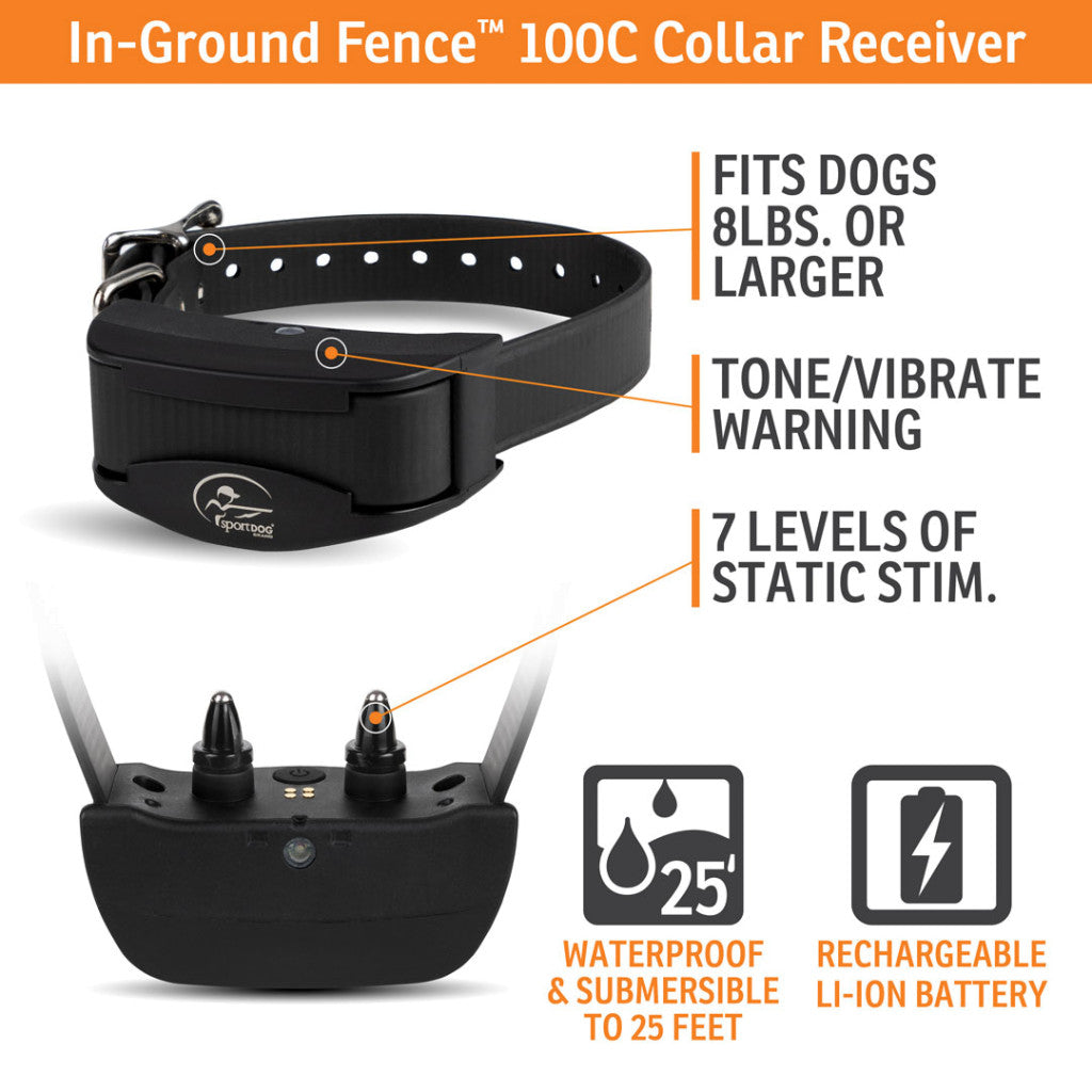 SportDOG® Brand Rechargeable In-Ground Fence™ System Receiver Collar (SDF-CR)