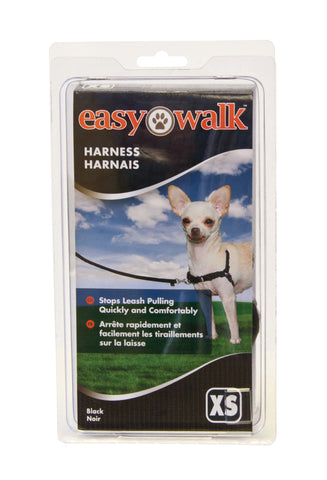 EWH-HC-P-BLK Easy Walk® Harness- Petite, Black/Silver
