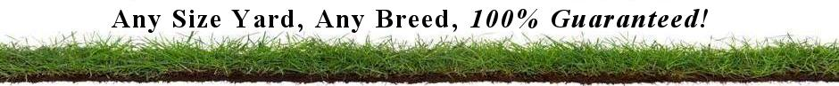 Any Size Yard, Any Breed, 100% Guaranteed!