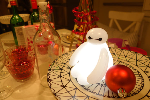 White Valentine's Day Big Hero 6 Hearted Baymax LED Nightlight