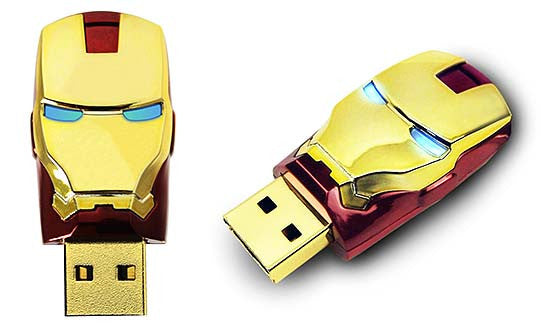 Iron Man 2 USB2.0 Flash Drive Helmet , InfoThink X Marvel - Fantasyusb Store