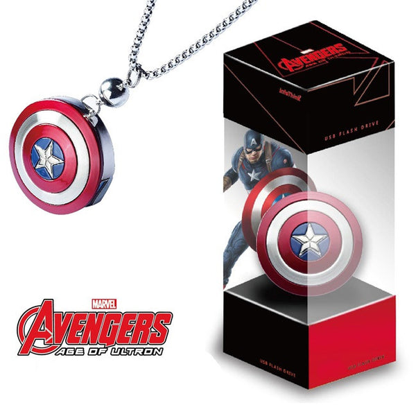 Marvel Avengers: Age of Ultron America Captain Shield OTG + USB3.0 Flash Drive