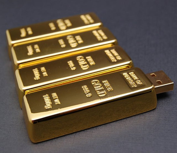 Gold Brick USB Memory Flash Drive , POSLINK - Fantasyusb Store