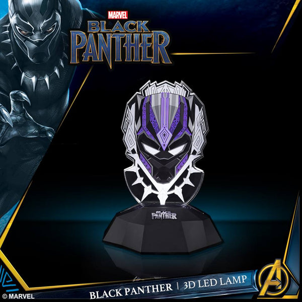Black Panther Vibranium Power FX Mask 3D Line Lamp , MARVEL - Fantasyusb Store