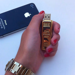 Gold Brick USB Memory Flash Drive
