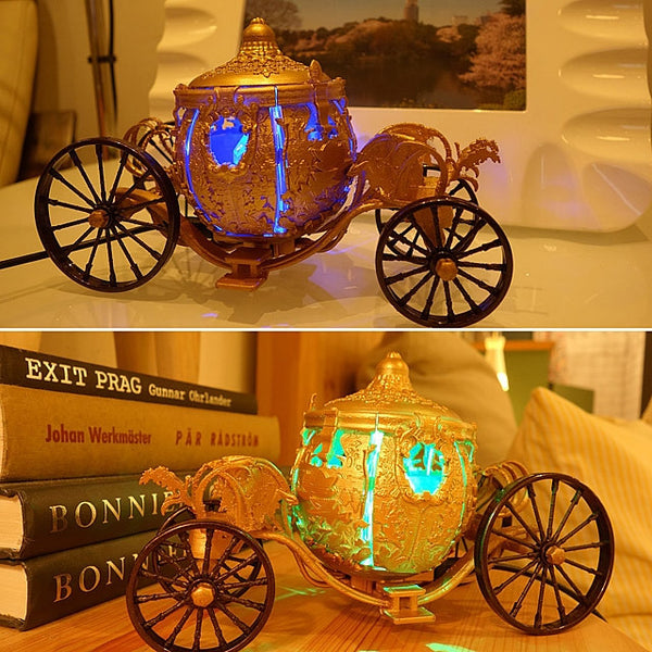 Disney Crystal Cinderella Carriage LED Lamp , Disney - Fantasyusb Store