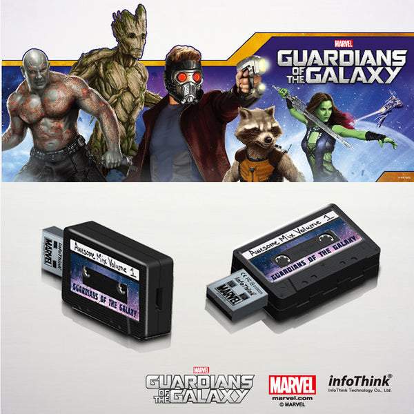 Guardians of the Galaxy Awesome Mix Volume Tape OTG + USB3.0 , MARVEL - Fantasyusb Store