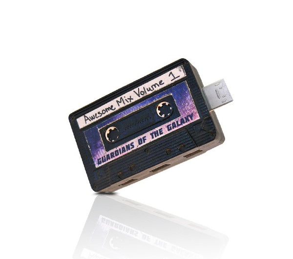 Guardians of the Galaxy Awesome Mix Volume Tape OTG + USB3.0 , InfoThink X Marvel - Fantasyusb Store