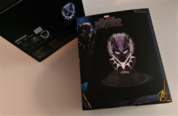 Black Panther Vibranium Power FX Mask 3D Line Lamp , InfoThink X Marvel - Fantasyusb Store