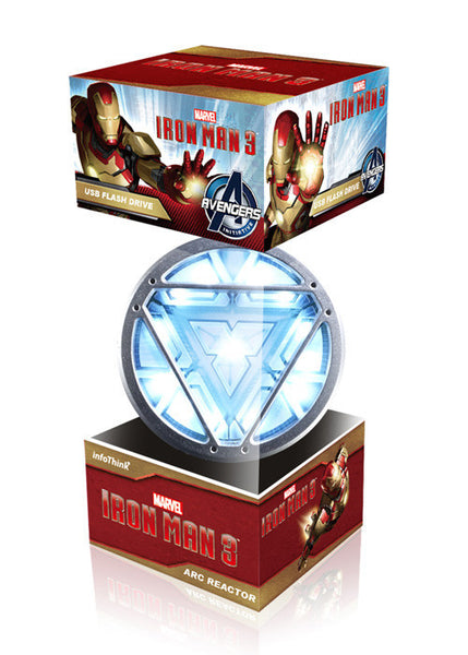 Marvel Iron Man 3 ARC Reactor USB Flash Drive + Luxury Necklace , InfoThink X Marvel - Fantasyusb Store