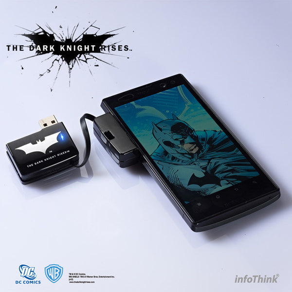 DC Comics The Dark Knight Rise Batman Power Bank , InfoThink X WB - Fantasyusb Store