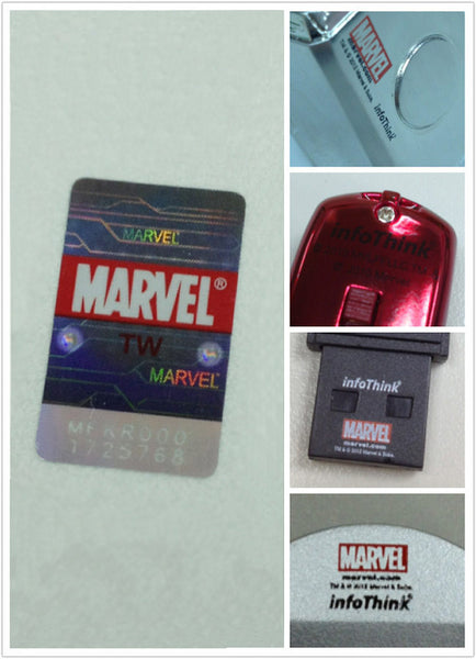 Marvel IronMan 2 War Machines Silver USB Flash Drive , InfoThink X Marvel - Fantasyusb Store