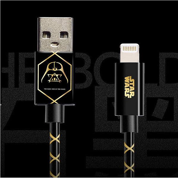 Star Wars Darth Vader Sync and Lightning to USB Cable for iPhone / iPad , Star Wars - Fantasyusb Store