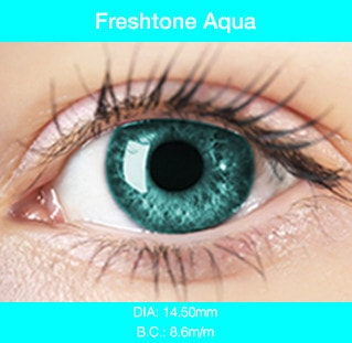 Fresh Tone Aqua - Buy Best Quality Non Prescription Colored Contact Lenses - 1