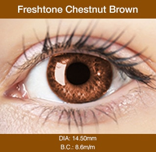 Fresh Tone Chestnut Brown - Buy Best Quality Non Prescription Colored Contact Lenses - 1
