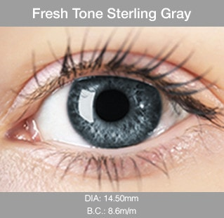 Fresh Tone Sterling Gray - Buy Best Quality Non Prescription Colored Contact Lenses - 1