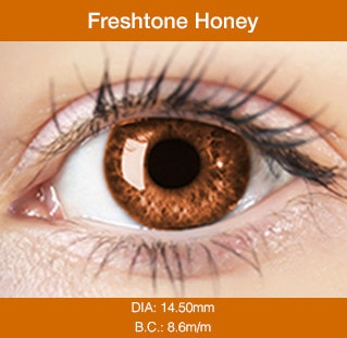 Freshtone Honey - Buy Best Quality Non Prescription Colored Contact Lenses - 1