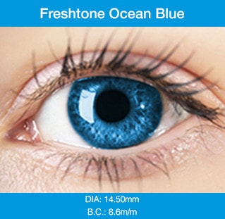Freshtone Ocean Blue - Buy Best Quality Non Prescription Colored Contact Lenses - 1