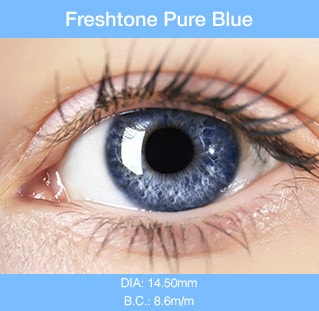 Freshtone Pure Blue - Buy Best Quality Non Prescription Colored Contact Lenses - 1