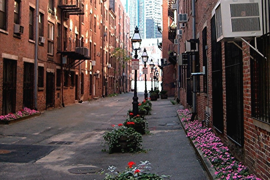 Alleyway in Boston's Historical North End