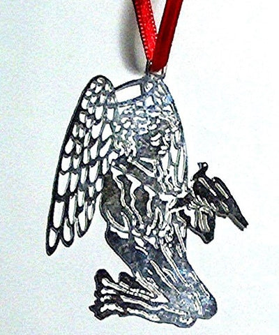 Angel with Dove, Silverplate Christmas Tree Ornament