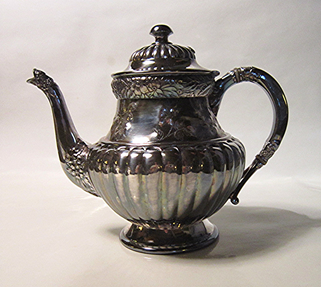 Victorian Silverplate Teapot Queen Anne Style