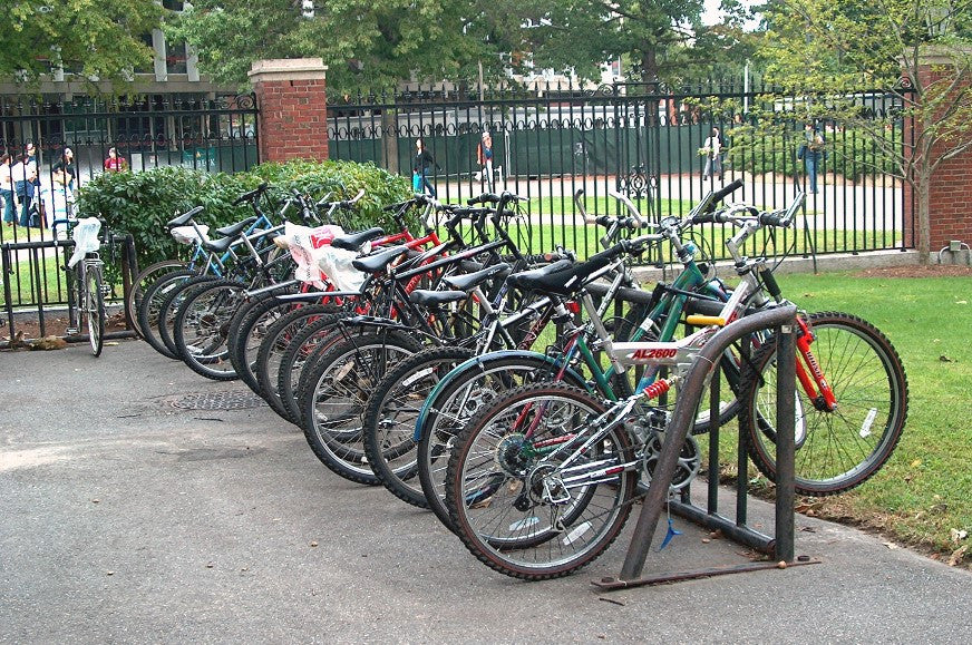 Bicycle Stand in Harvard Yard