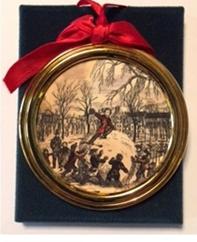 Vintage Goldplate Christmas Ornament, Boston Common