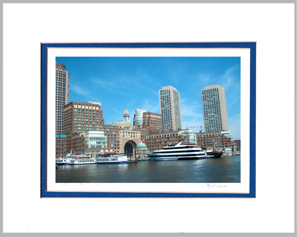 Boston Harborwalk Matted Print