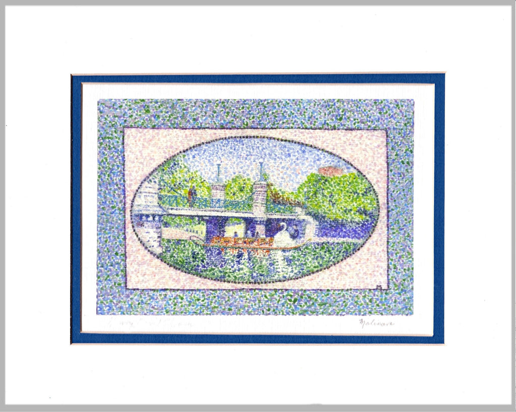 Boston Public Garden Matted Print