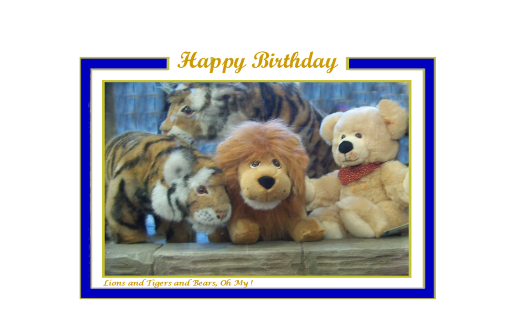 Happy Birthday, Lions and Tigers and Bears, Oh My!