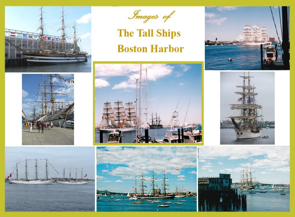 Images of Tall Ships in Boston Harbor