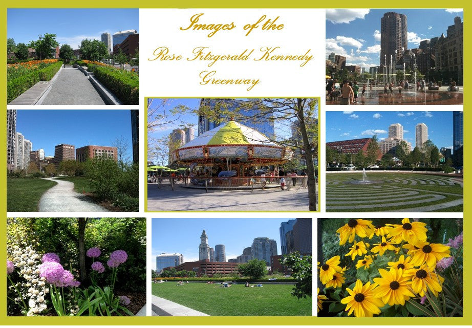 Images of Boston's Rose Fitzgerald Kennedy Greenway