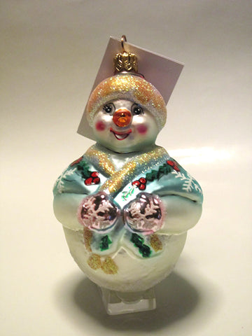 Jolly Wrap Junior Snowman Christmas Tree Ornament
