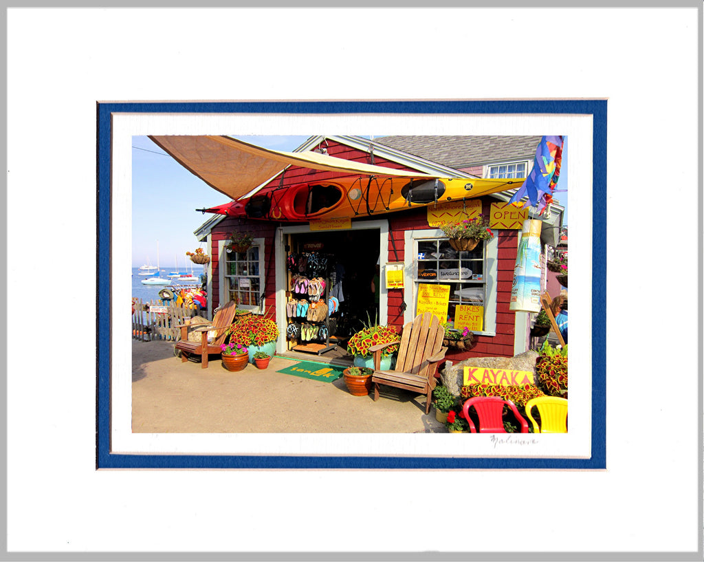Kayak Shack Matted Print