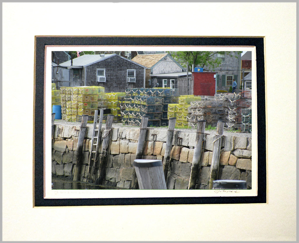 Lobster Traps Matted Print